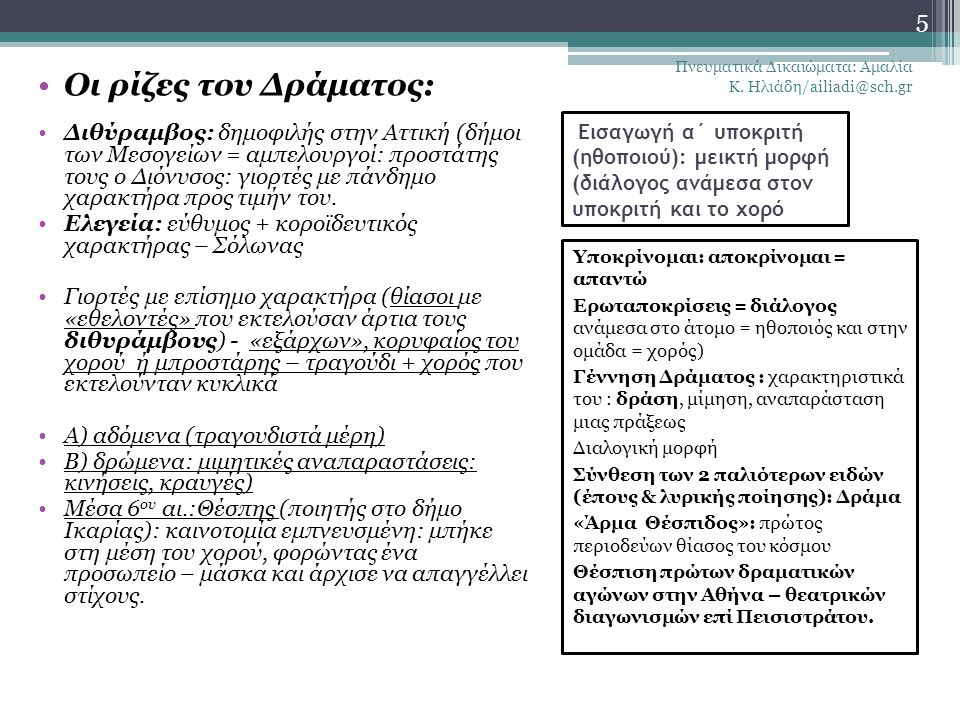 Πνευματικά Δικαιώματα: Αμαλία Κ. Ηλιάδη/ailiadi@sch.gr