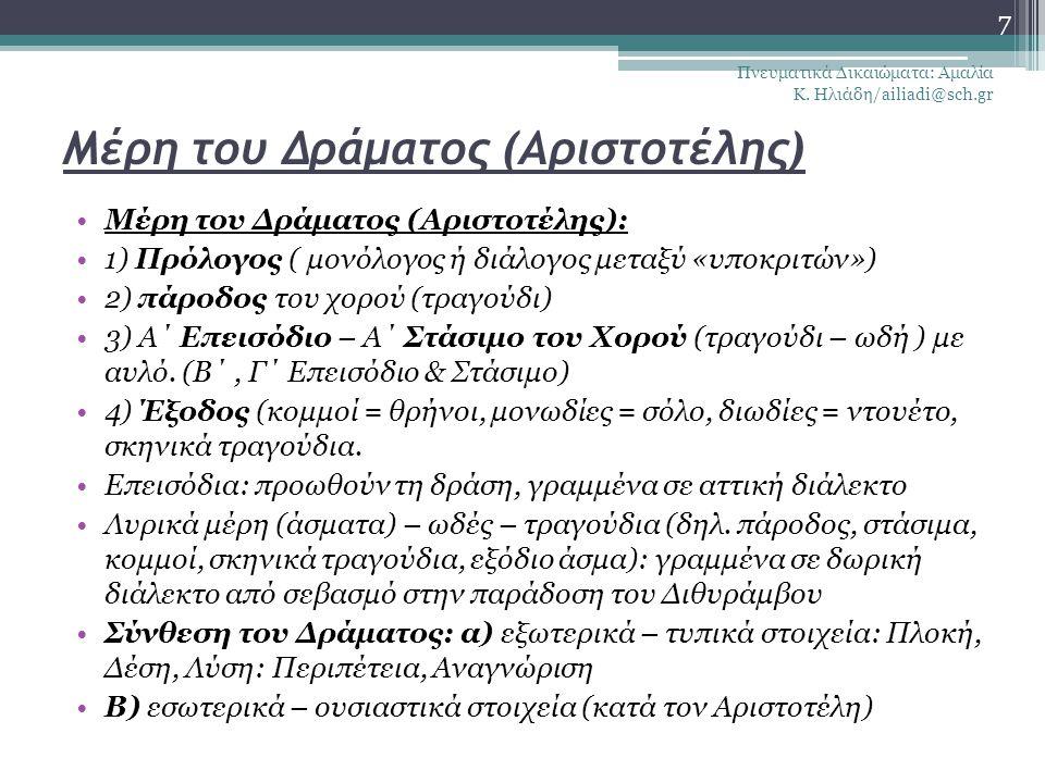Μέρη του Δράματος (Αριστοτέλης)