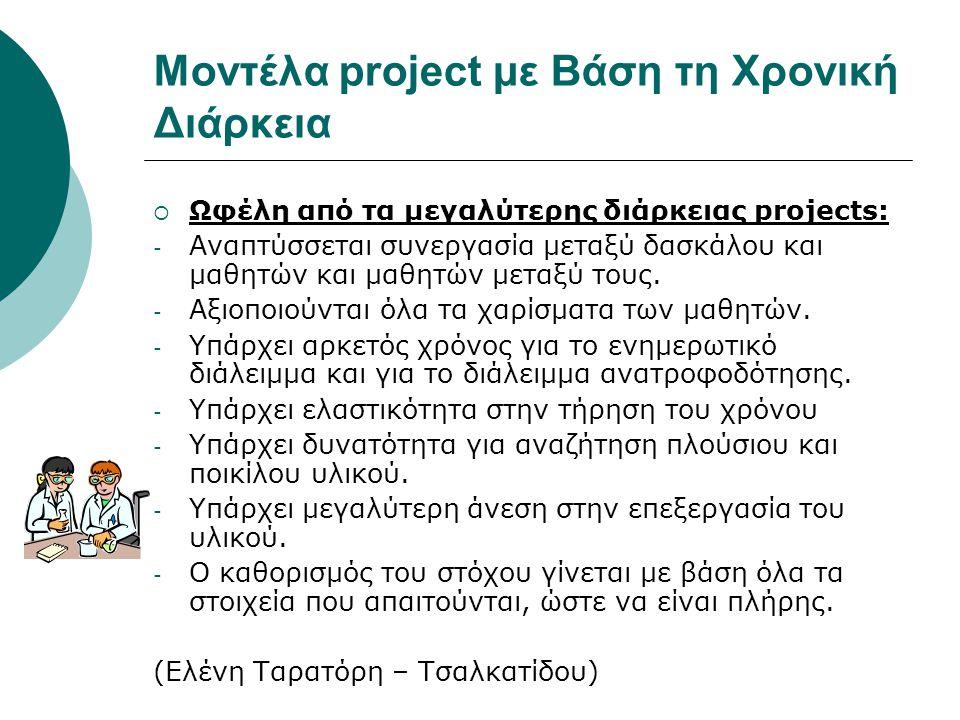 Μοντέλα project με Βάση τη Χρονική Διάρκεια