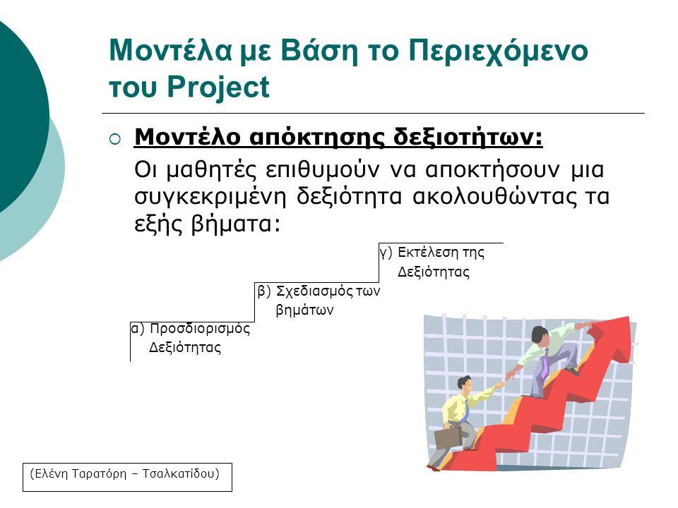 Μοντέλα με Βάση το Περιεχόμενο του Project
