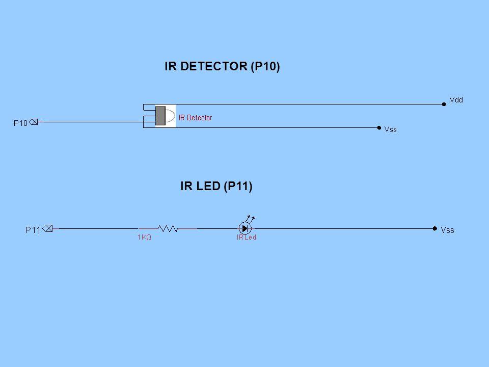 IR DETECTOR (P10) IR LED (P11)