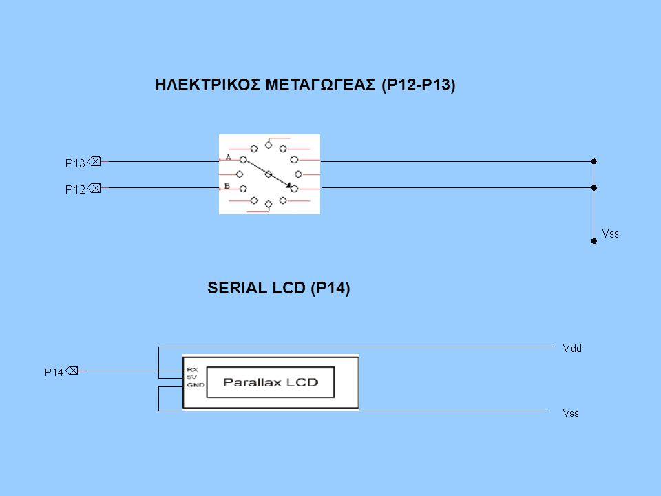ΗΛΕΚΤΡΙΚΟΣ ΜΕΤΑΓΩΓΕΑΣ (P12-P13)