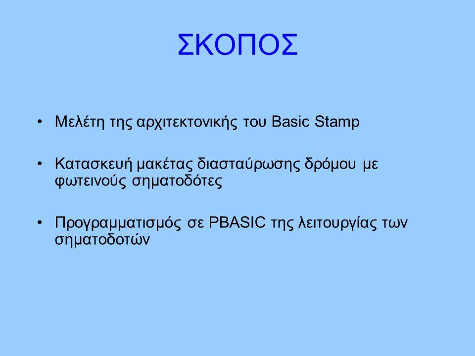 ΣΚΟΠΟΣ Μελέτη της αρχιτεκτονικής του Basic Stamp
