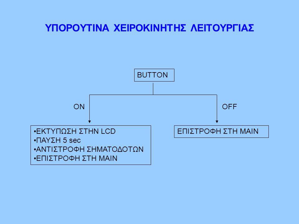 ΥΠΟΡΟΥΤΙΝΑ ΧΕΙΡΟΚΙΝΗΤΗΣ ΛΕΙΤΟΥΡΓΙΑΣ