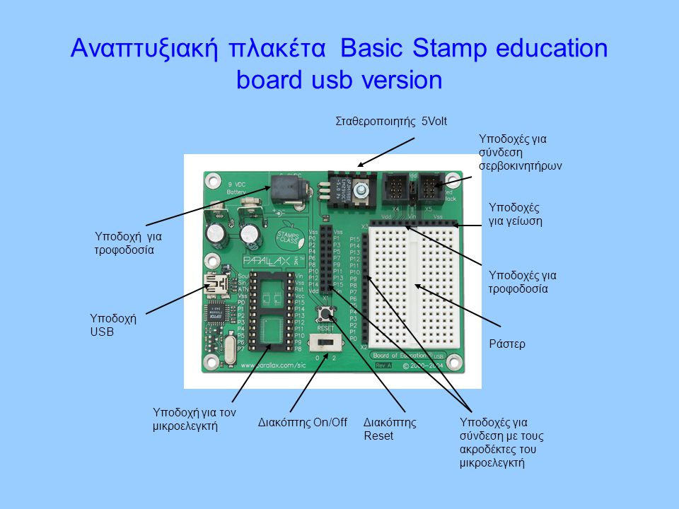 Αναπτυξιακή πλακέτα Basic Stamp education board usb version