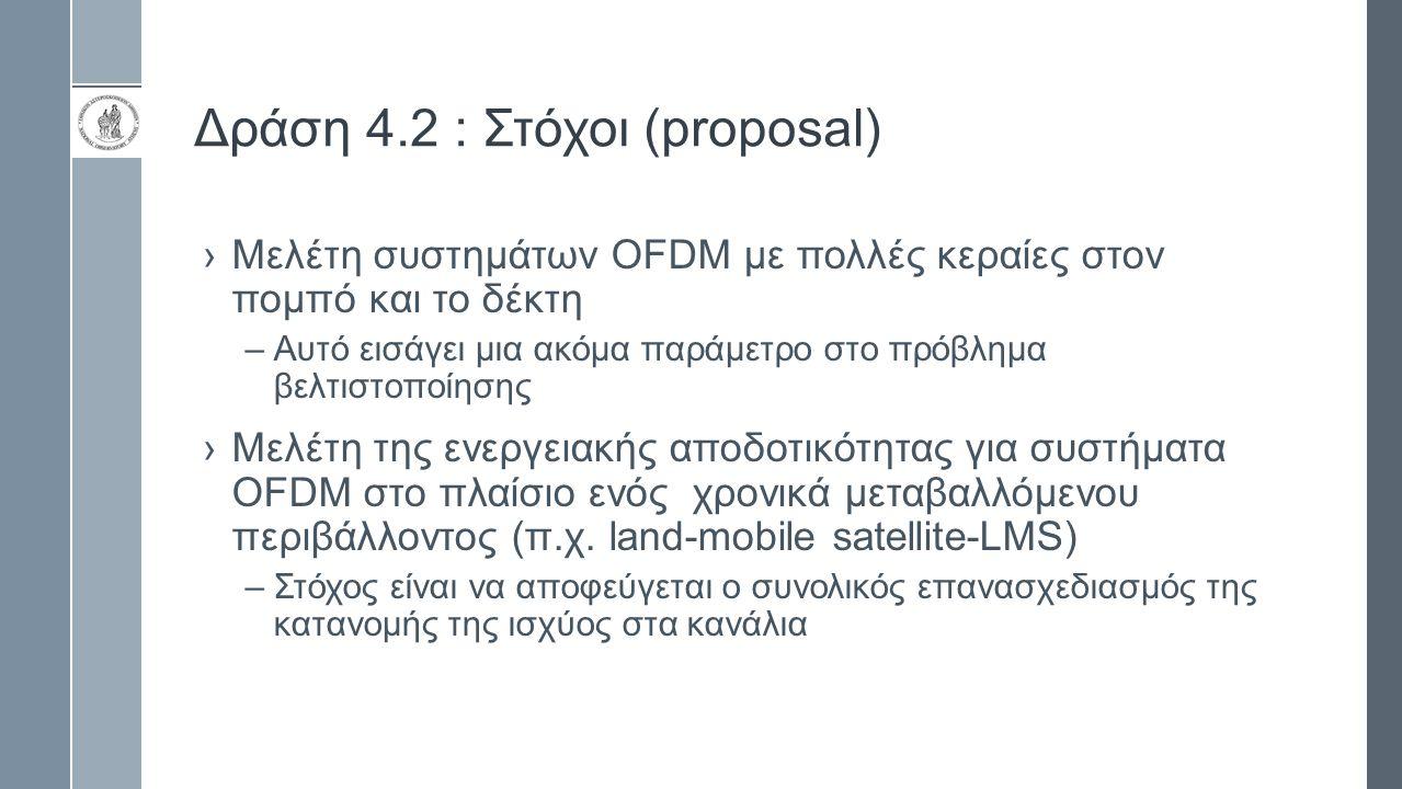 Δράση 4.2 : Στόχοι (proposal)