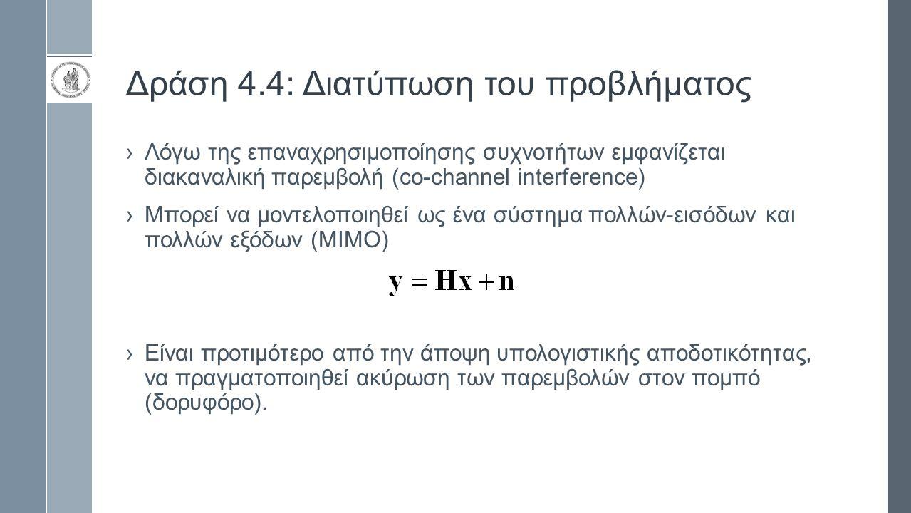 Δράση 4.4: Διατύπωση του προβλήματος