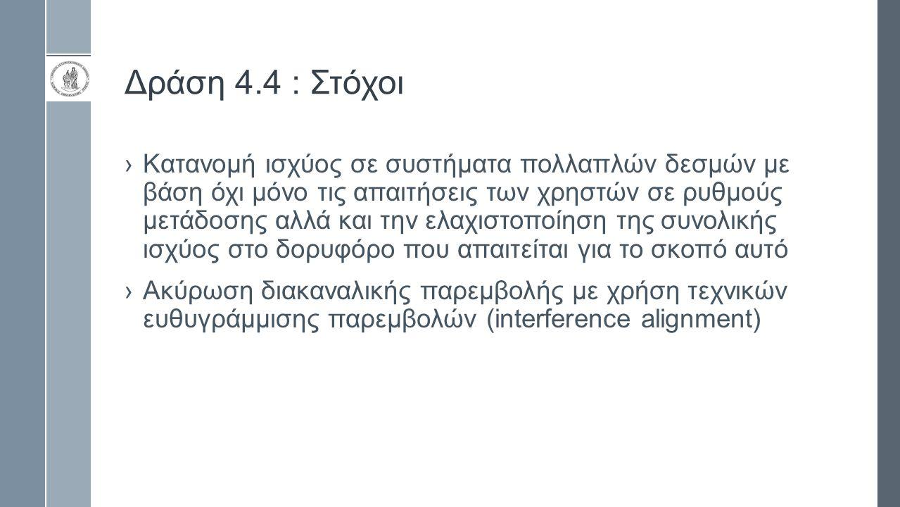Δράση 4.4 : Στόχοι