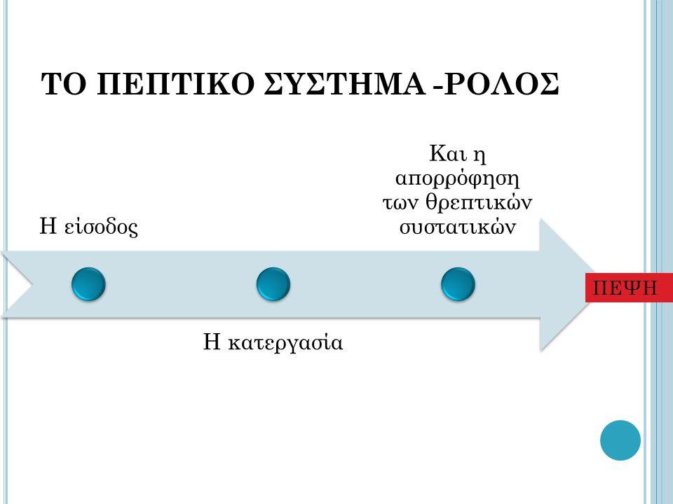 ΤΟ ΠΕΠΤΙΚΟ ΣΥΣΤΗΜΑ -ΡΟΛΟΣ