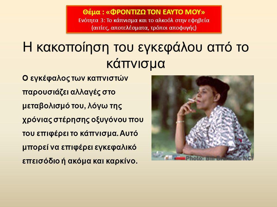 Η κακοποίηση του εγκεφάλου από το κάπνισμα