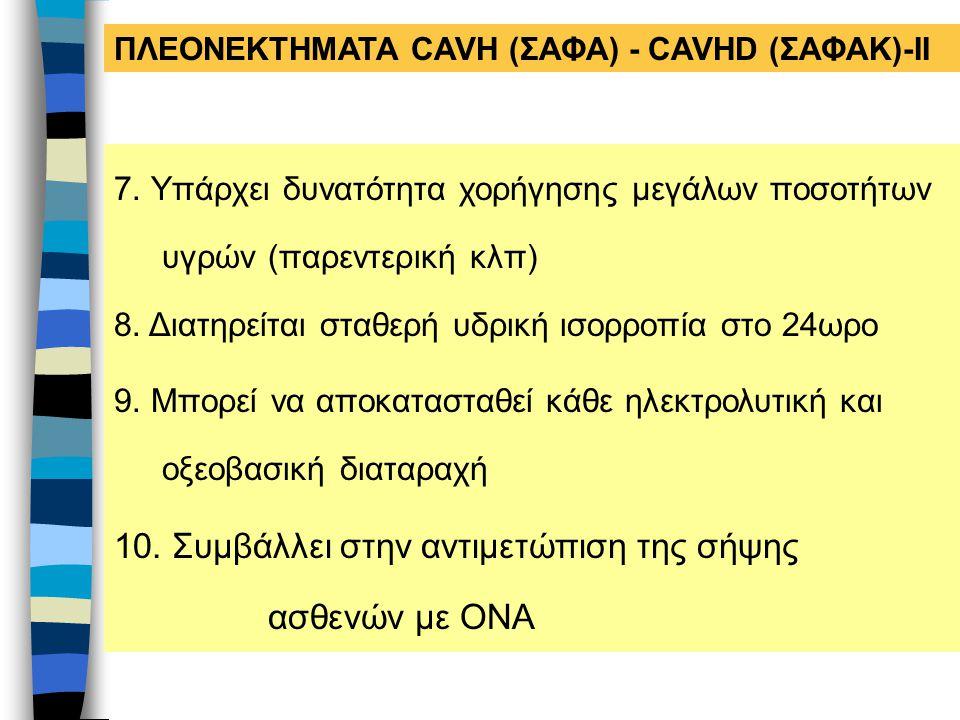 10. Συμβάλλει στην αντιμετώπιση της σήψης ασθενών με ΟΝΑ