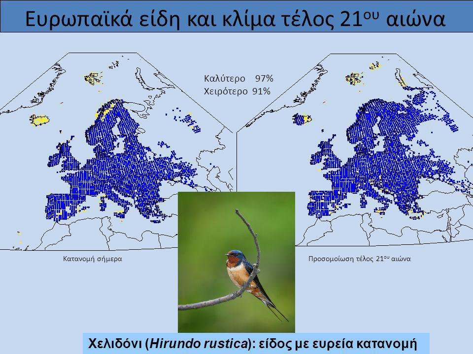 Ευρωπαϊκά είδη και κλίμα τέλος 21ου αιώνα