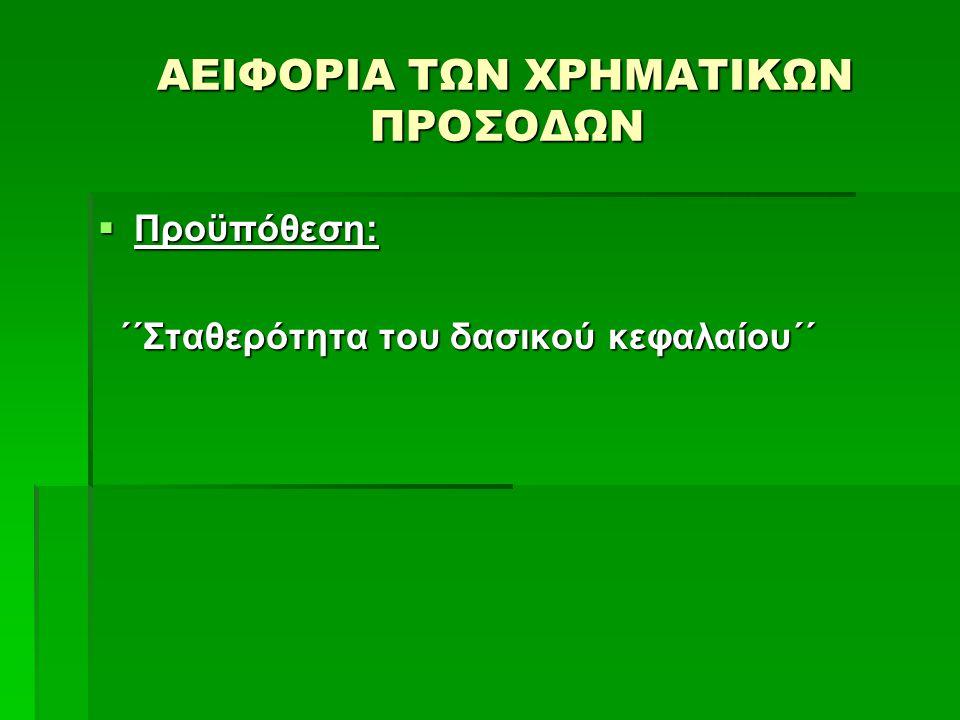 ΑΕΙΦΟΡΙΑ ΤΩΝ ΧΡΗΜΑΤΙΚΩΝ ΠΡΟΣΟΔΩΝ