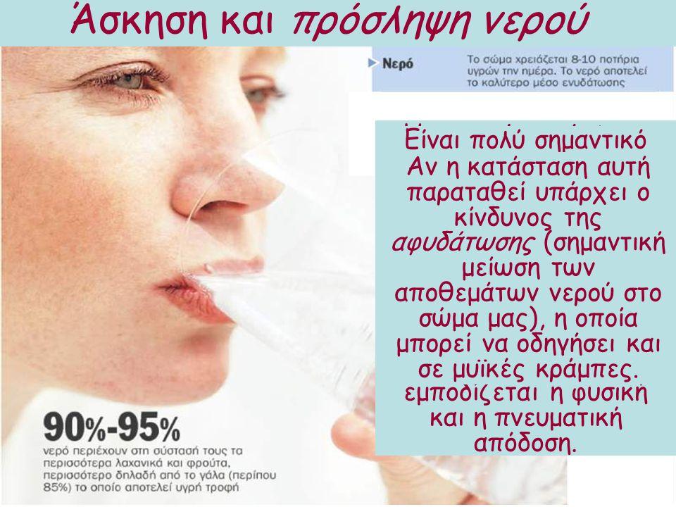 Άσκηση και πρόσληψη νερού