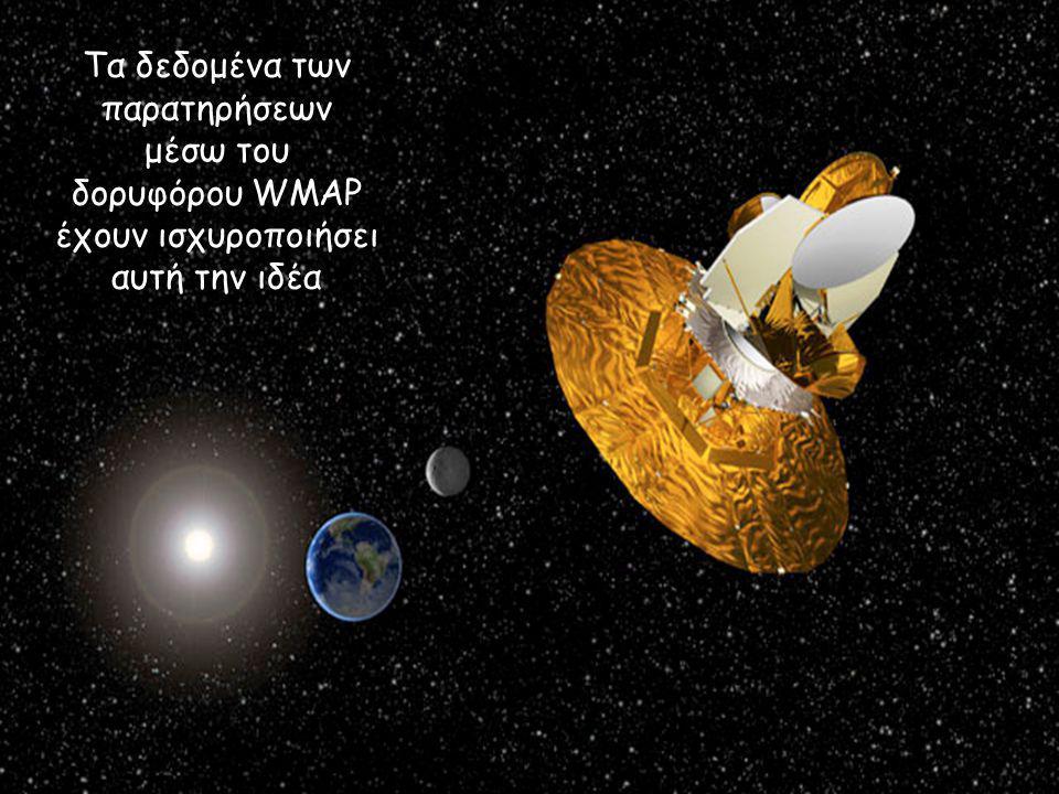 Τα δεδομένα των παρατηρήσεων μέσω του δορυφόρου WMAP