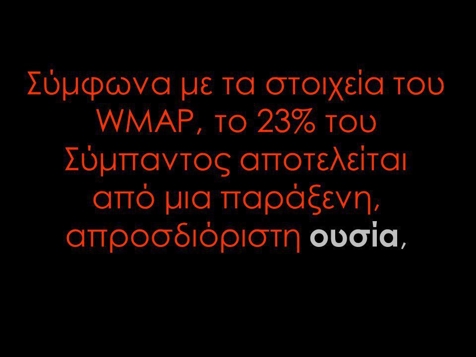 Σύμφωνα με τα στοιχεία του WMAP, το 23% του Σύμπαντος αποτελείται