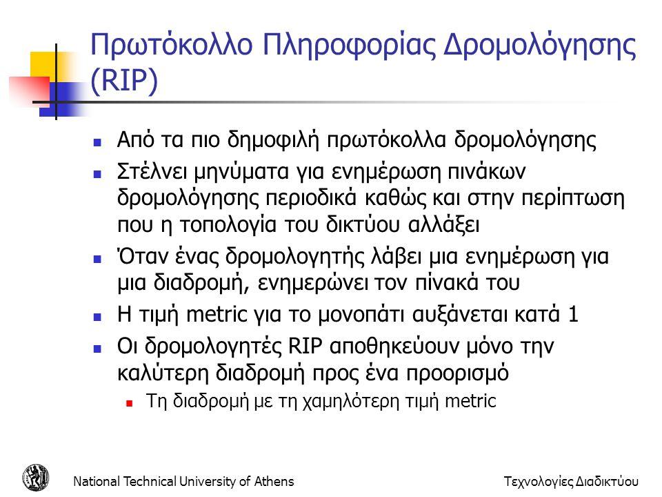 Πρωτόκολλο Πληροφορίας Δρομολόγησης (RIP)