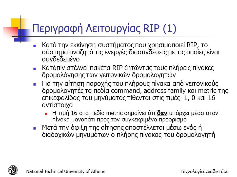 Περιγραφή Λειτουργίας RIP (1)