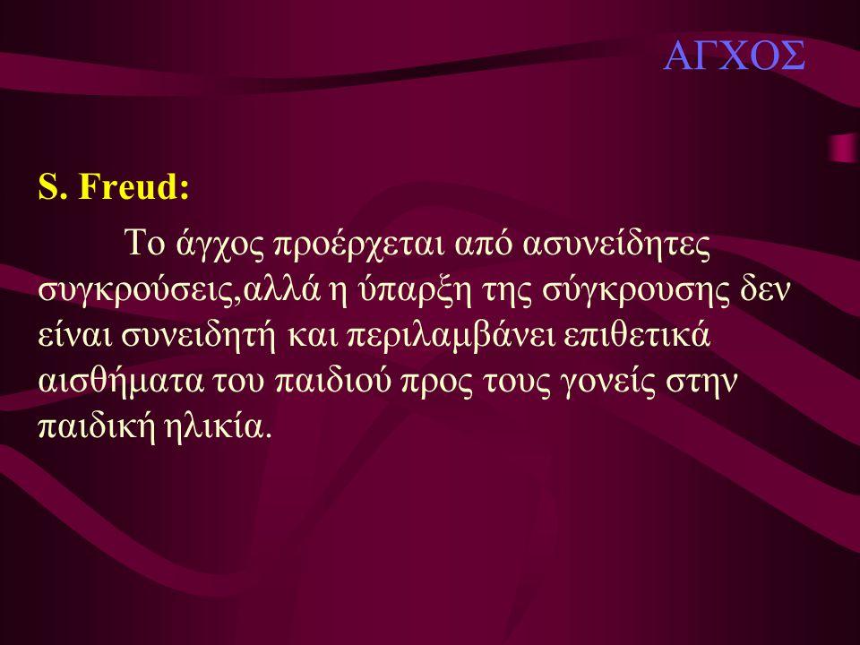 ΑΓΧΟΣ S. Freud: