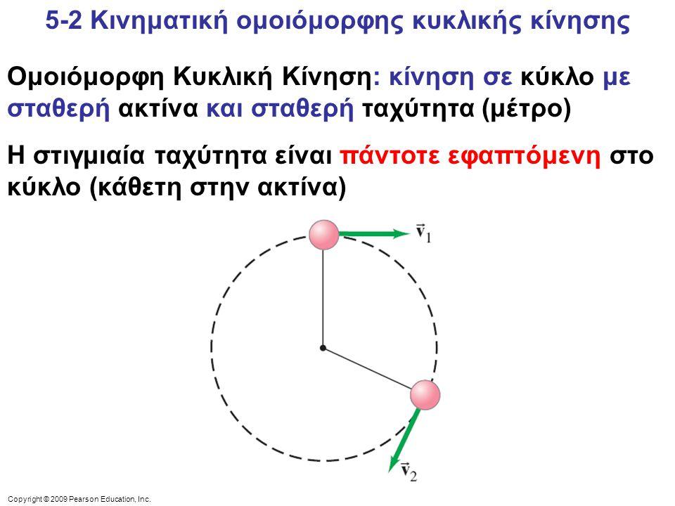 5-2 Κινηματική ομοιόμορφης κυκλικής κίνησης
