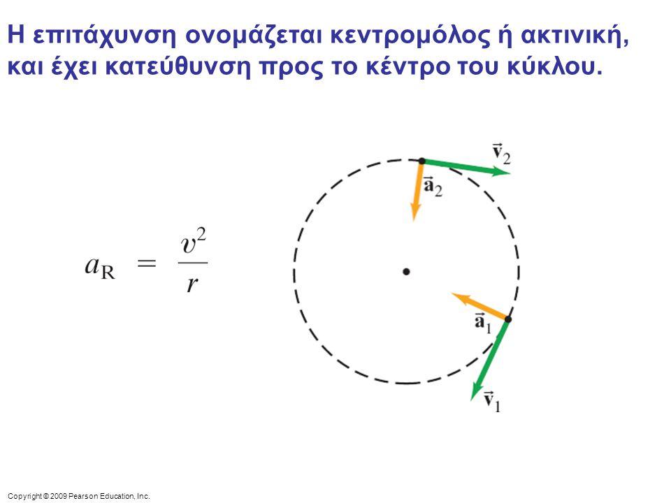 Η επιτάχυνση ονομάζεται κεντρομόλος ή ακτινική, και έχει κατεύθυνση προς το κέντρο του κύκλου.