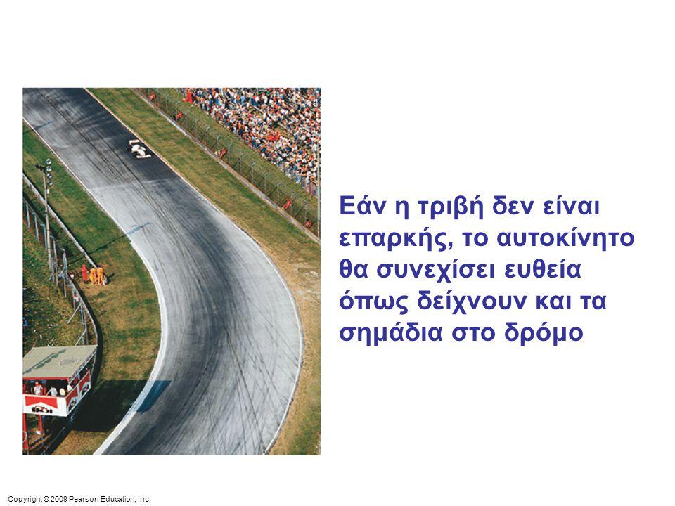 Εάν η τριβή δεν είναι επαρκής, το αυτοκίνητο θα συνεχίσει ευθεία όπως δείχνουν και τα σημάδια στο δρόμο