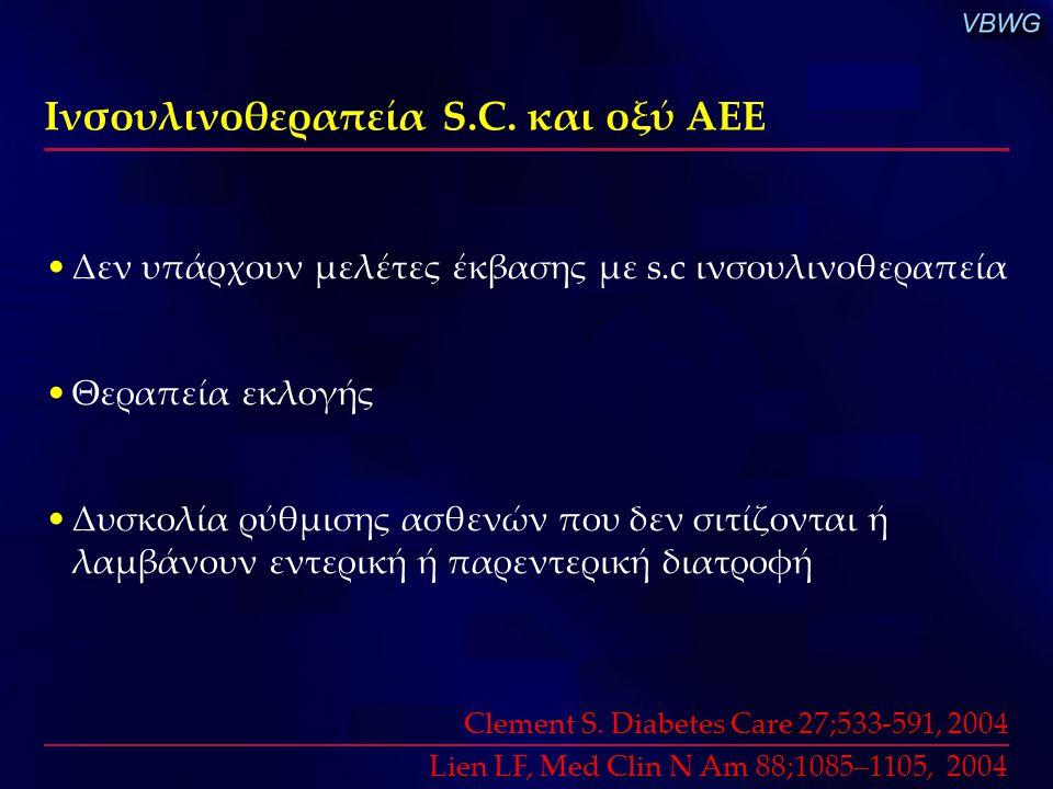 Ινσουλινοθεραπεία S.C. και οξύ ΑΕΕ
