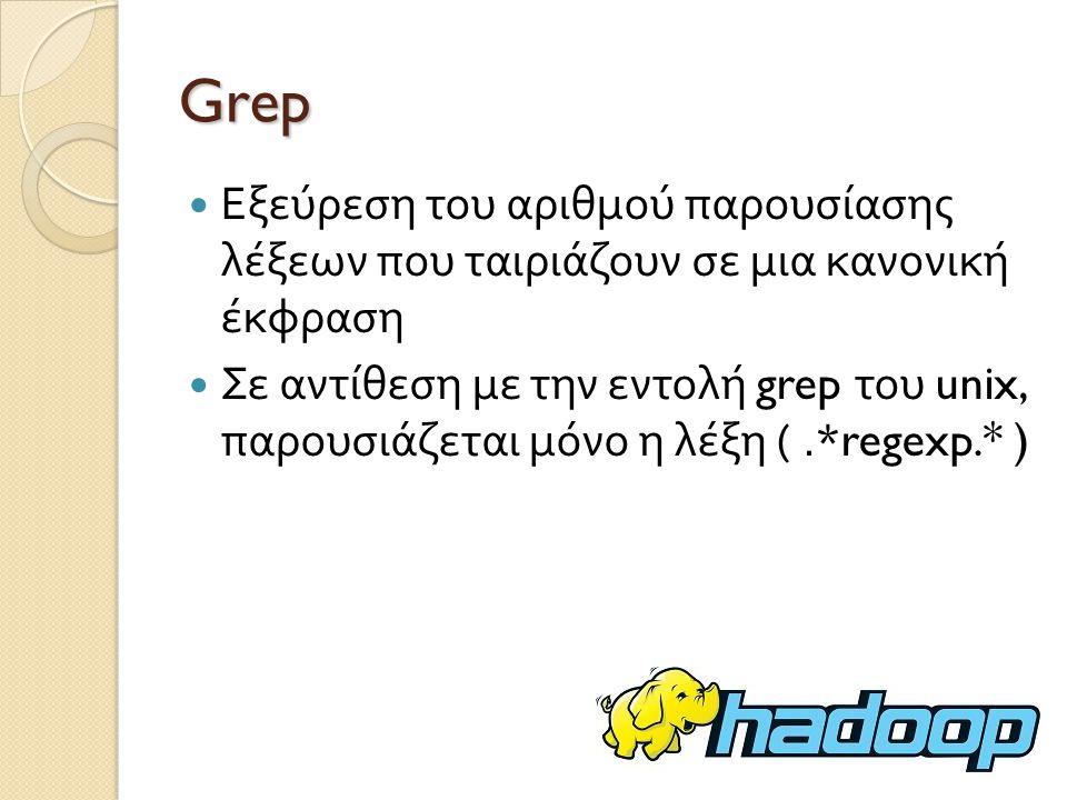 Grep Εξεύρεση του αριθμού παρουσίασης λέξεων που ταιριάζουν σε μια κανονική έκφραση.