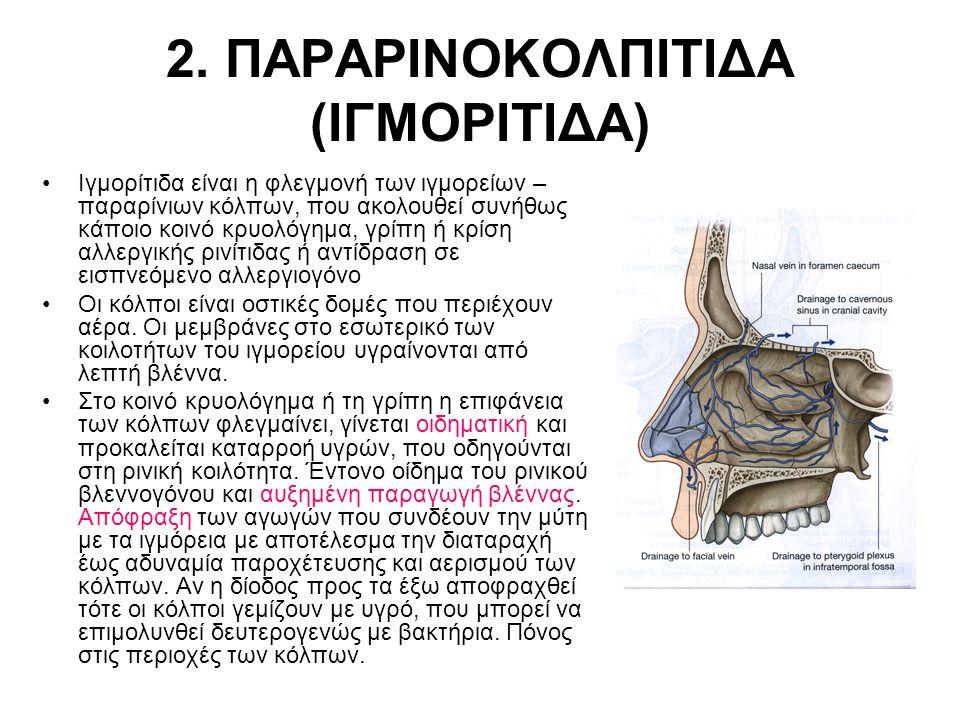 2. ΠΑΡΑΡΙΝΟΚΟΛΠΙΤΙΔΑ (ΙΓΜΟΡΙΤΙΔΑ)