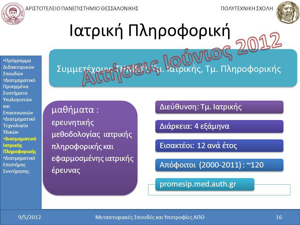Μεταπτυχιακές Σπουδές και Υποτροφίες ΑΠΘ