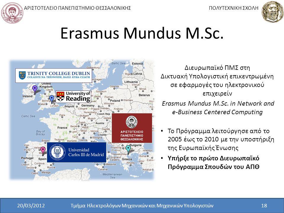 Erasmus Mundus M.Sc. Διευρωπαϊκό ΠΜΣ στη Δικτυακή Υπολογιστική επικεντρωμένη σε εφαρμογές του ηλεκτρονικού επιχειρείν.