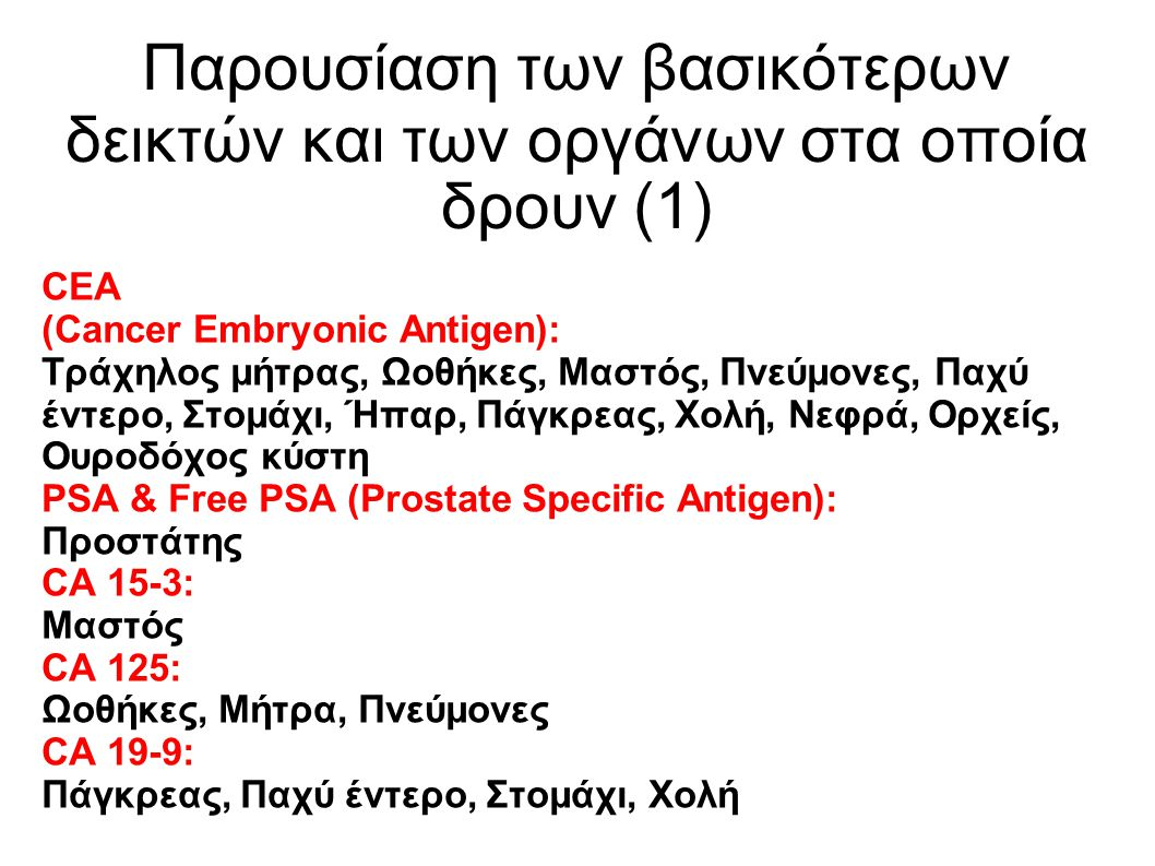 Παρουσίαση των βασικότερων δεικτών και των οργάνων στα οποία δρουν (1)