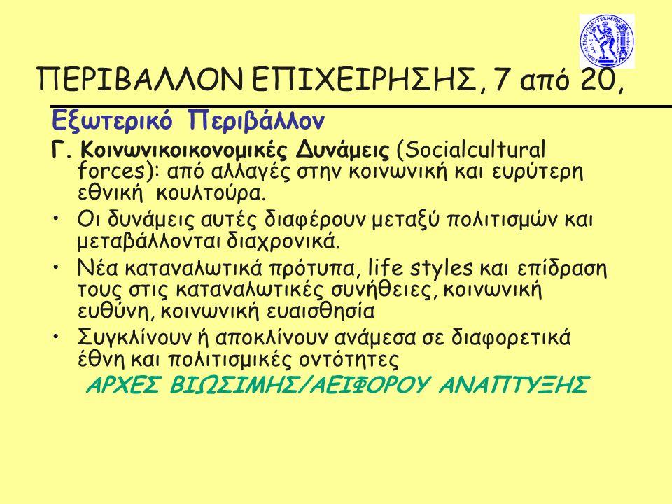 ΠΕΡΙΒΑΛΛΟΝ ΕΠΙΧΕΙΡΗΣΗΣ, 7 από 20,