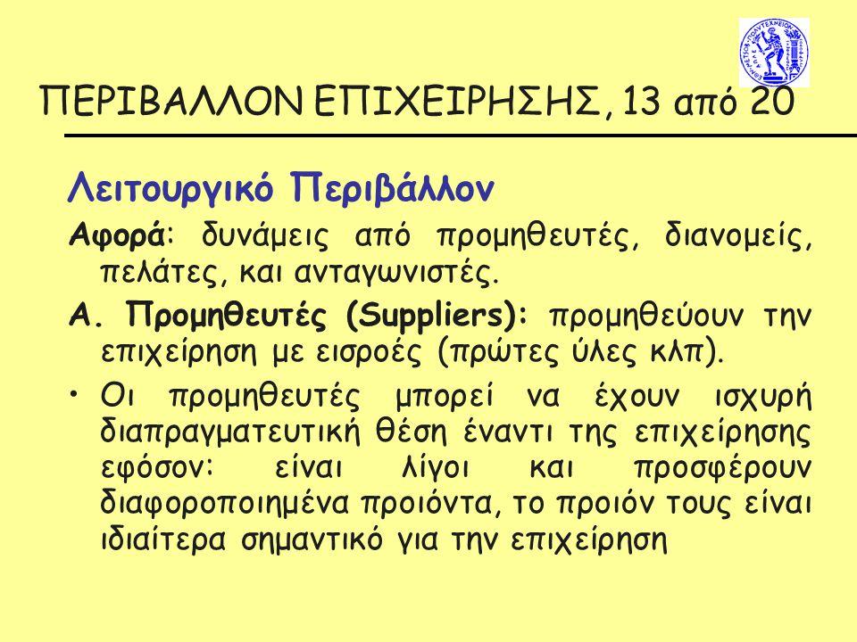 ΠΕΡΙΒΑΛΛΟΝ ΕΠΙΧΕΙΡΗΣΗΣ, 13 από 20