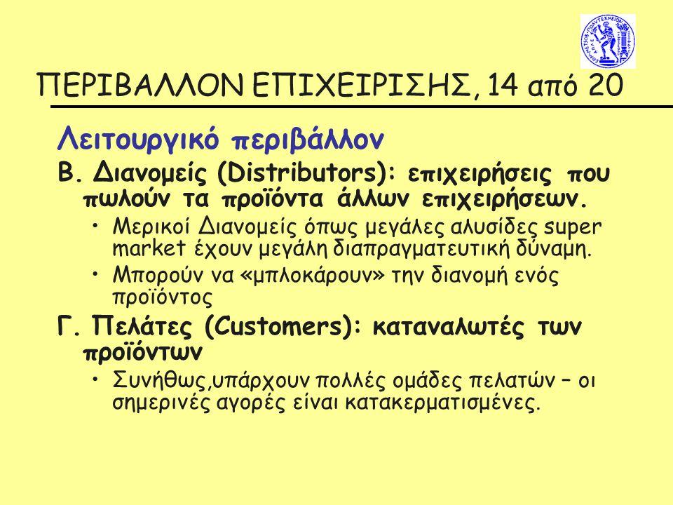 ΠΕΡΙΒΑΛΛΟΝ ΕΠΙΧΕΙΡΙΣΗΣ, 14 από 20