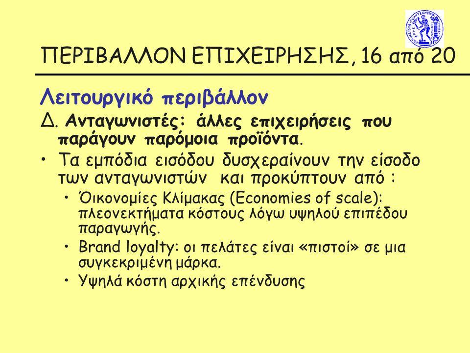 ΠΕΡΙΒΑΛΛΟΝ ΕΠΙΧΕΙΡΗΣΗΣ, 16 από 20