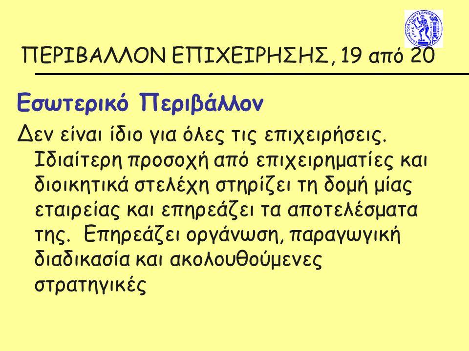ΠΕΡΙΒΑΛΛΟΝ ΕΠΙΧΕΙΡΗΣΗΣ, 19 από 20