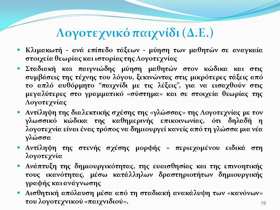 Λογοτεχνικό παιχνίδι (Δ.Ε.)