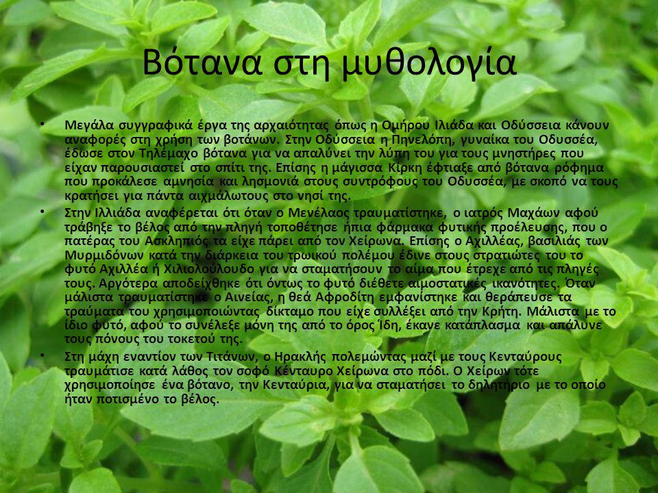 Βότανα στη μυθολογία