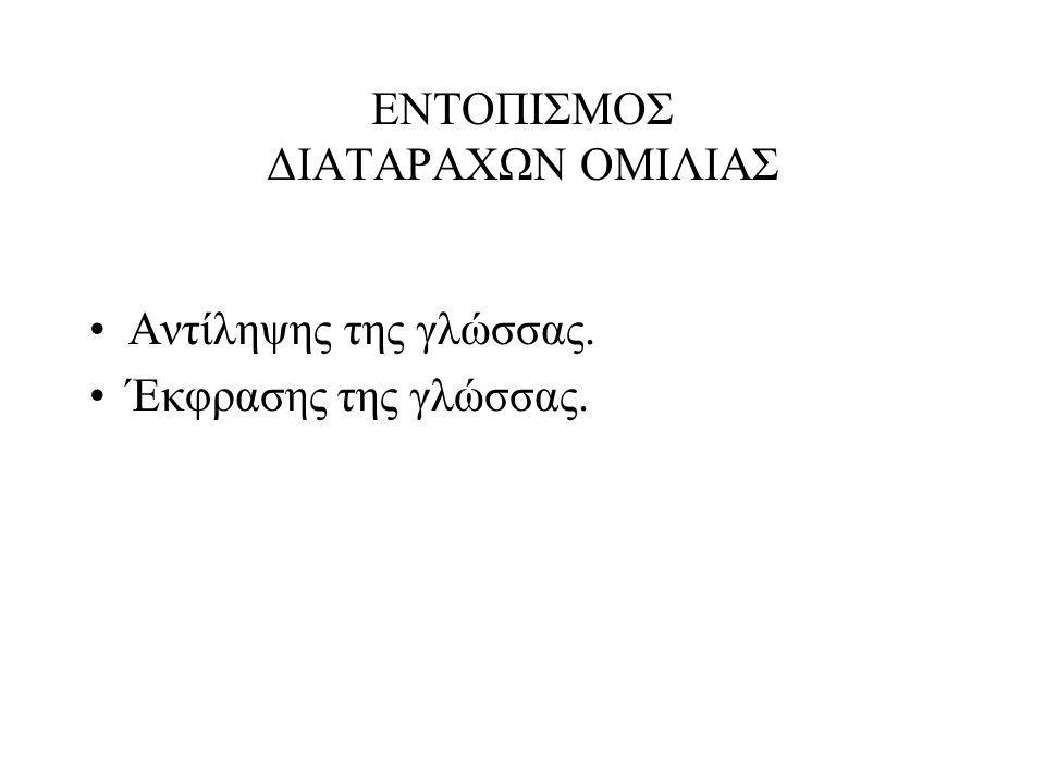 ΕΝΤΟΠΙΣΜΟΣ ΔΙΑΤΑΡΑΧΩΝ ΟΜΙΛΙΑΣ