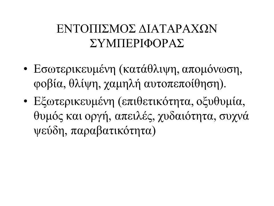 ΕΝΤΟΠΙΣΜΟΣ ΔΙΑΤΑΡΑΧΩΝ ΣΥΜΠΕΡΙΦΟΡΑΣ