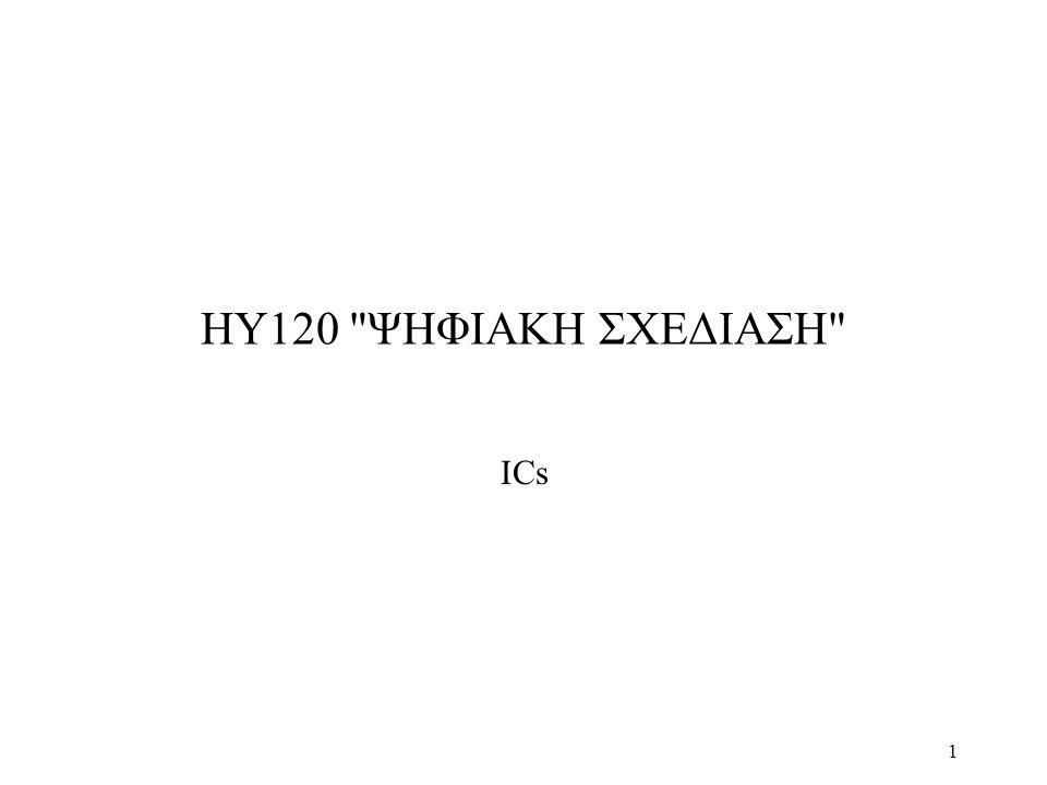 ΗΥ120 ΨΗΦΙΑΚΗ ΣΧΕΔΙΑΣΗ ΙCs
