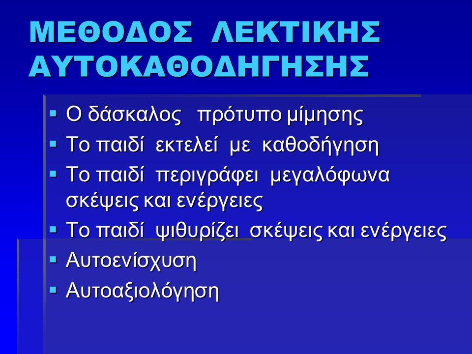 ΜΕΘΟΔΟΣ ΛΕΚΤΙΚΗΣ ΑΥΤΟΚΑΘΟΔΗΓΗΣΗΣ