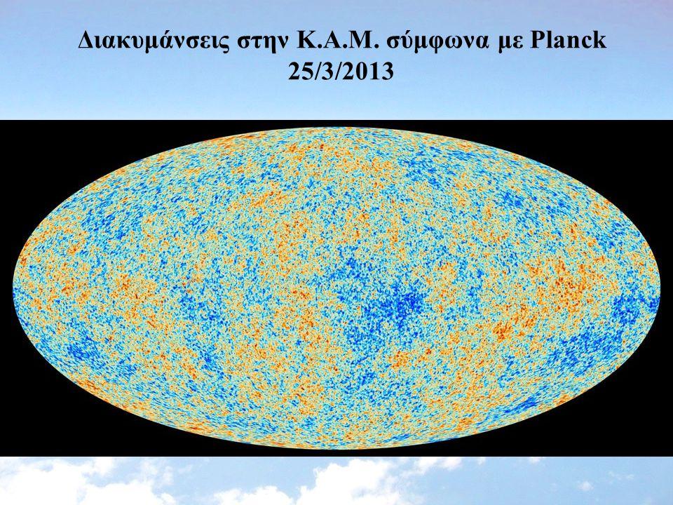Διακυμάνσεις στην Κ.Α.Μ. σύμφωνα με Planck