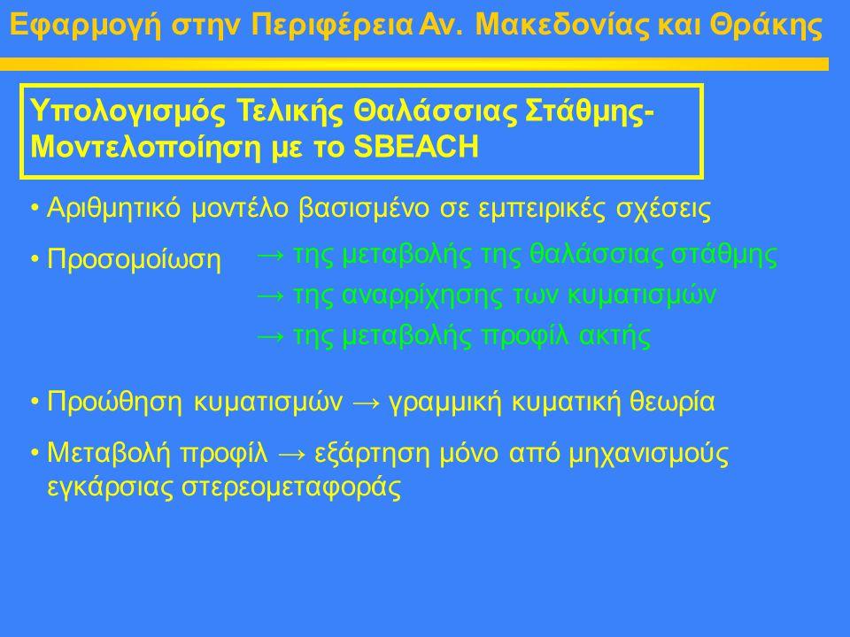 Εφαρμογή στην Περιφέρεια Αν. Μακεδονίας και Θράκης