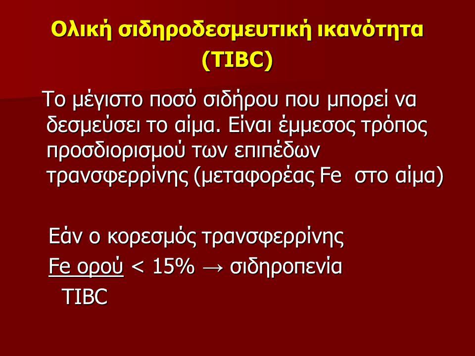 Ολική σιδηροδεσμευτική ικανότητα (TIBC)