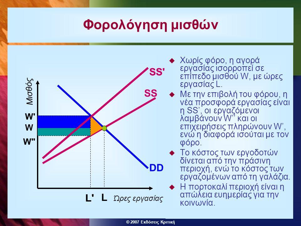 Φορολόγηση μισθών L SS L SS SS DD L