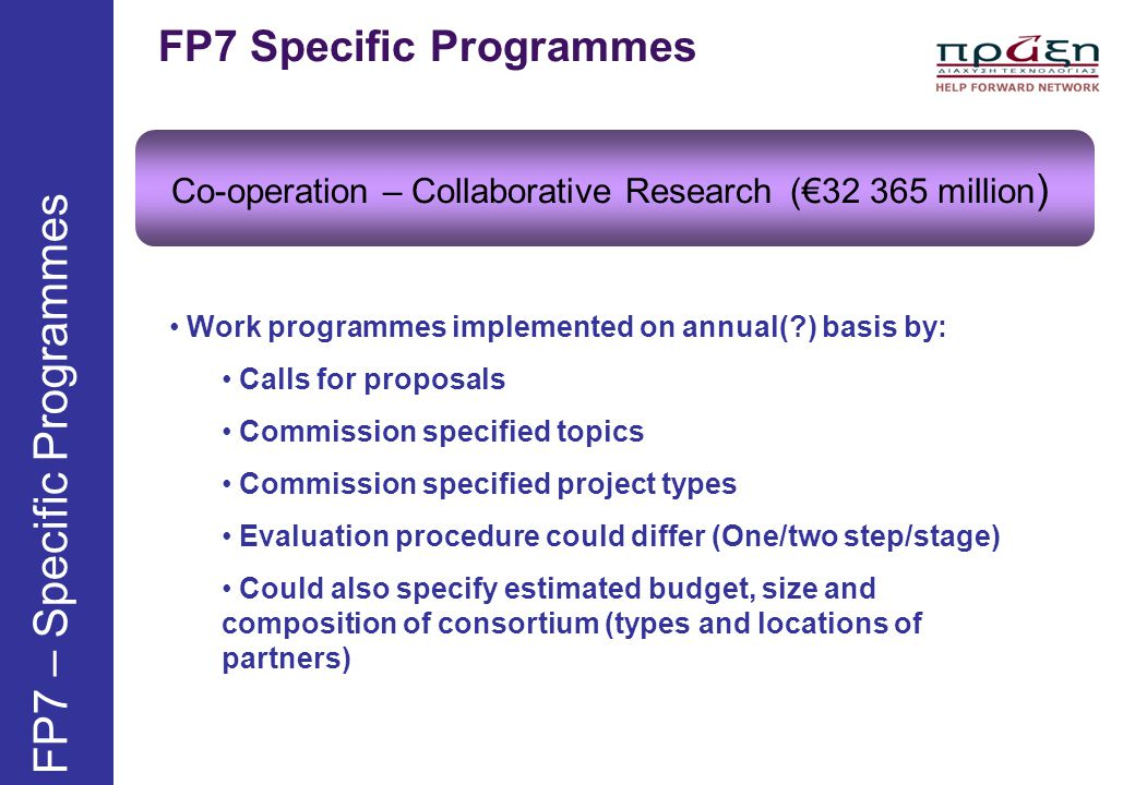 FP7 – Specific Programmes