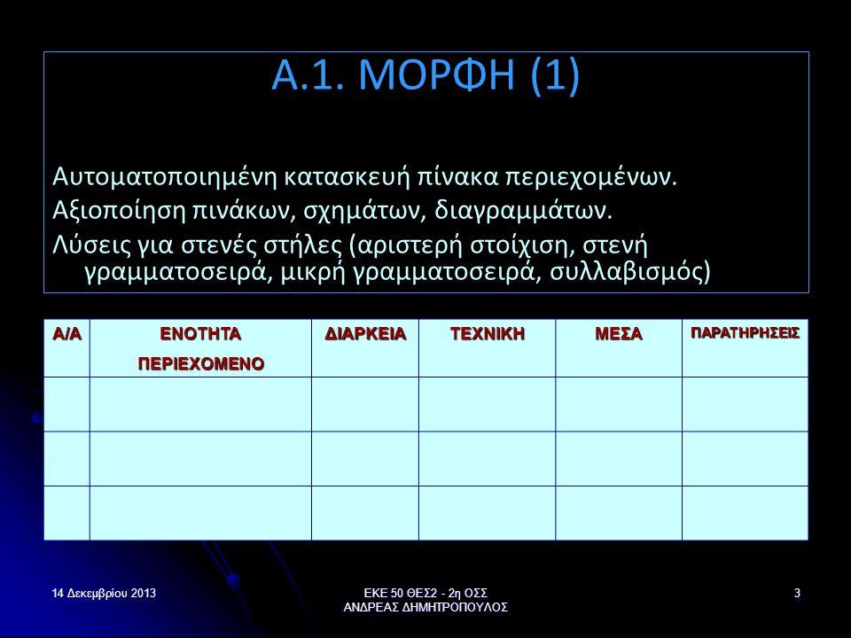 ΕΚΕ 50 ΘΕΣ2 - 2η ΟΣΣ ΑΝΔΡΕΑΣ ΔΗΜΗΤΡΟΠΟΥΛΟΣ