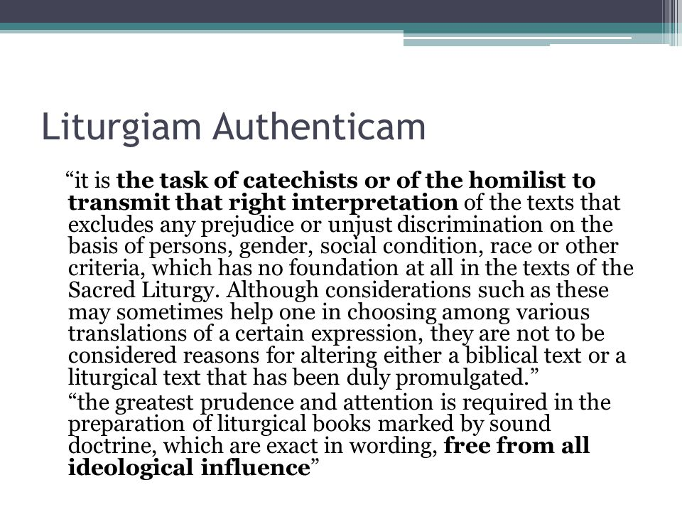 Liturgiam Authenticam